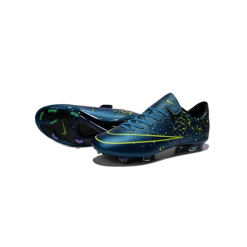 New Nike Mercurial Vapor 10 FG Football Boot Squadron Blue Black Volt