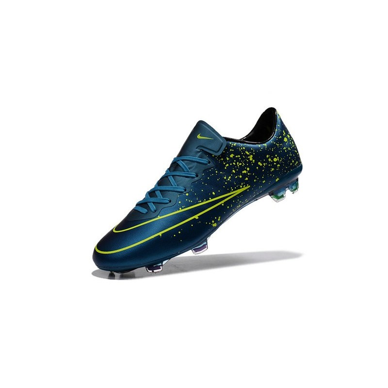 New Nike Mercurial Vapor 10 FG Football Boot Squadron Blue Black Volt