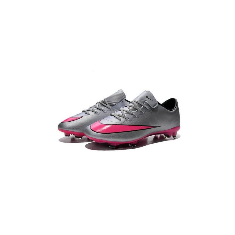 Ronaldo Nike Mercurial Vapor X FG Firm Ground Shoes Wolf Grey Hyper Pink