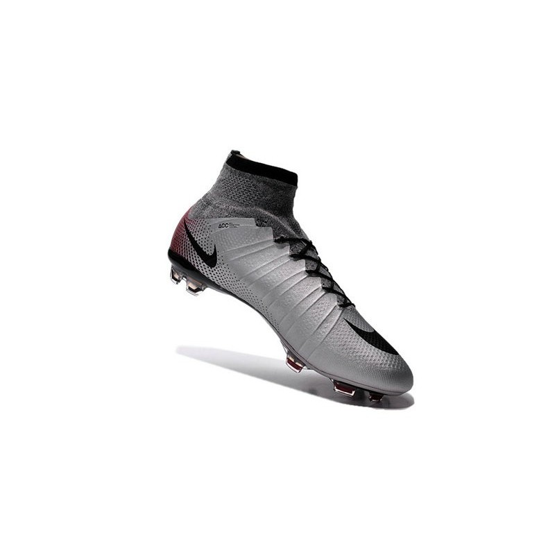 Ronaldo Nike Mercurial Superfly 4 FG Soccer Boot Silver Black Red