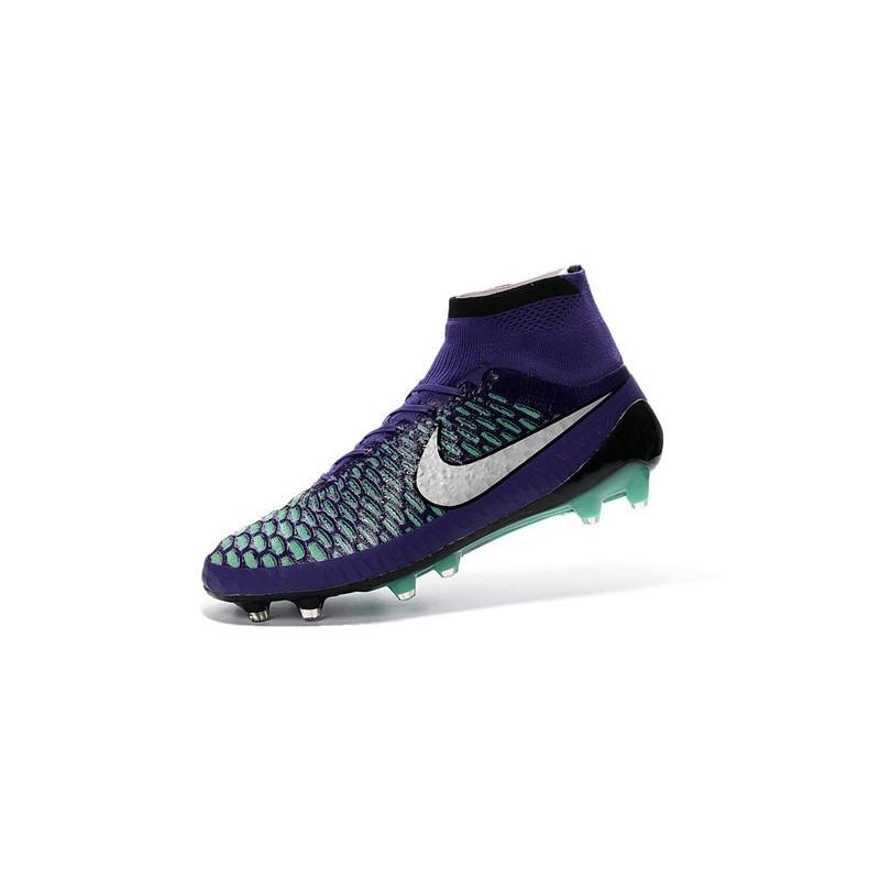 Nike 2016 Magista Obra FG ACC Football Shoes Purple Green White