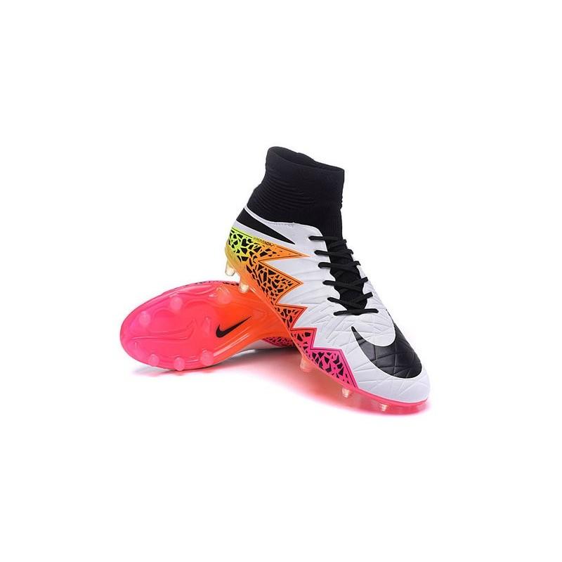 Nike 2016 Mens Boots Hypervenom Phantom II FG ACC Muti-Color White Black
