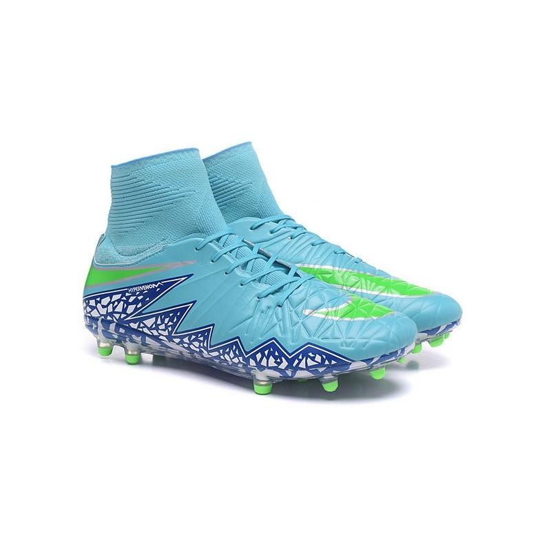 Nike 2016 Mens Boots Hypervenom Phantom II FG ACC Light Blue Green