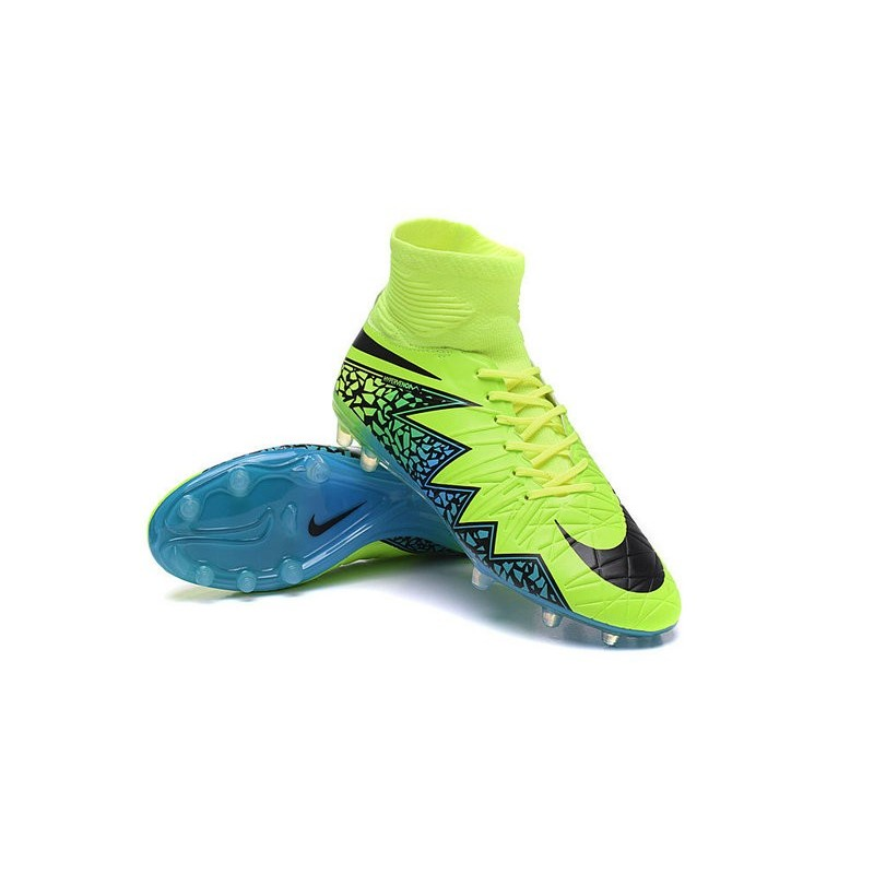 Nike Hypervenom Phantom 2 FG ACC 2016 Soccer Shoes Volt Black Blue