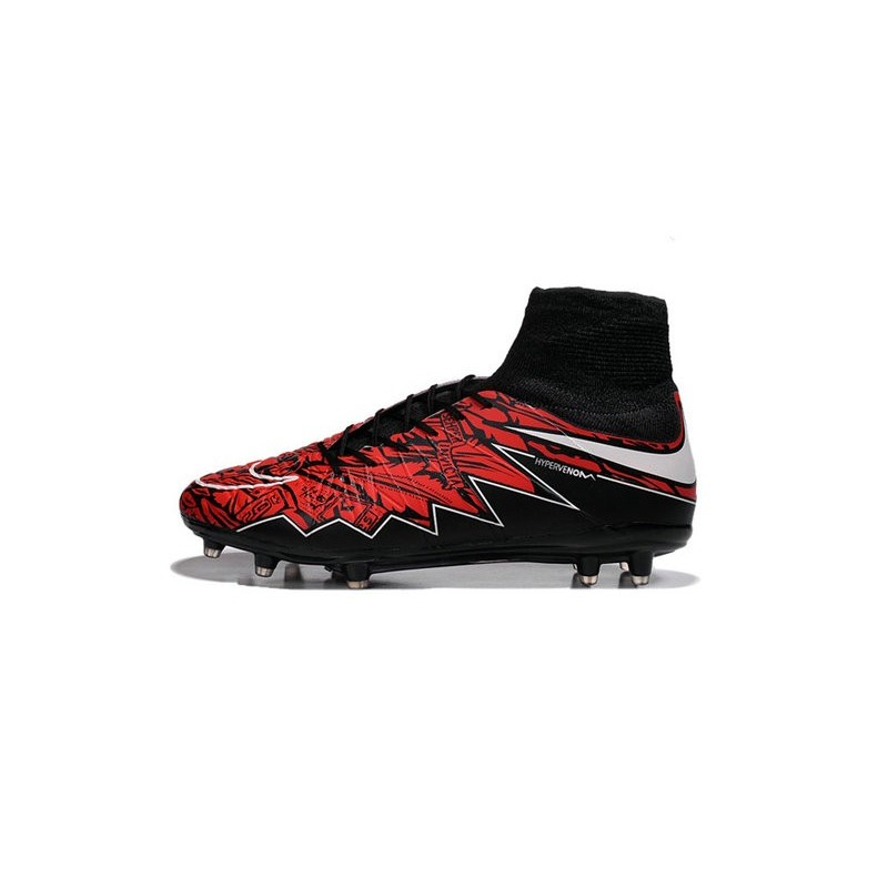 Nike Hypervenom Phantom 2 FG ACC 2016 Soccer Shoes Robert Lewandowski Red Black White