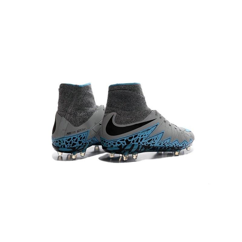 Nike Hypervenom Phantom 2 FG ACC 2016 Soccer Shoes Gray Blue Black