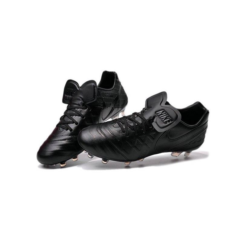 New 2016 Nike Tiempo Legend 6 FG Kangaroo Leather Boots All Black