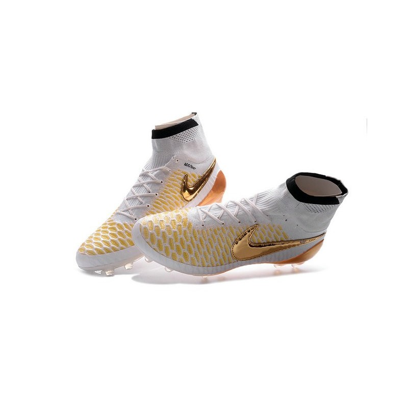 best website c89a4 1670e ... Nike 2016 Magista Obra FG ACC Football Shoes White Gold ...