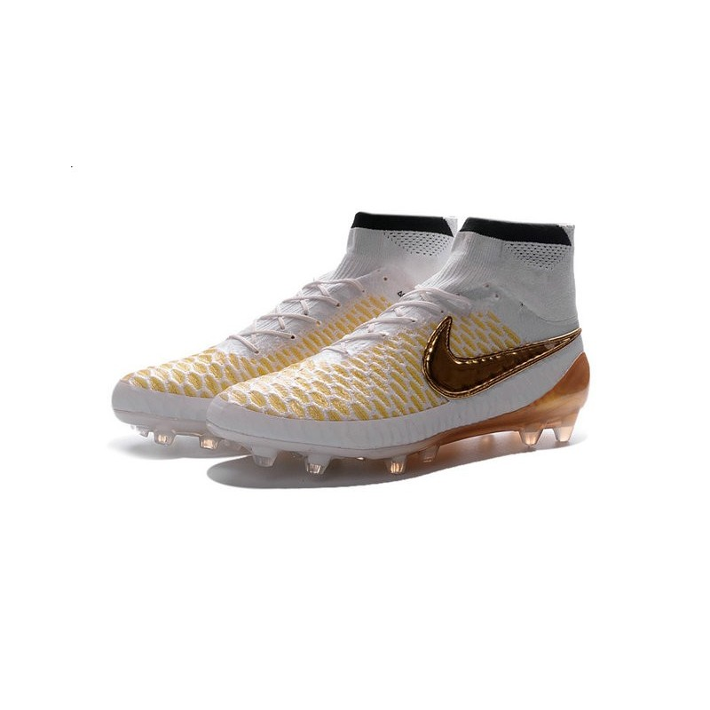 Nike 2016 Magista Obra FG ACC Football Shoes White Gold