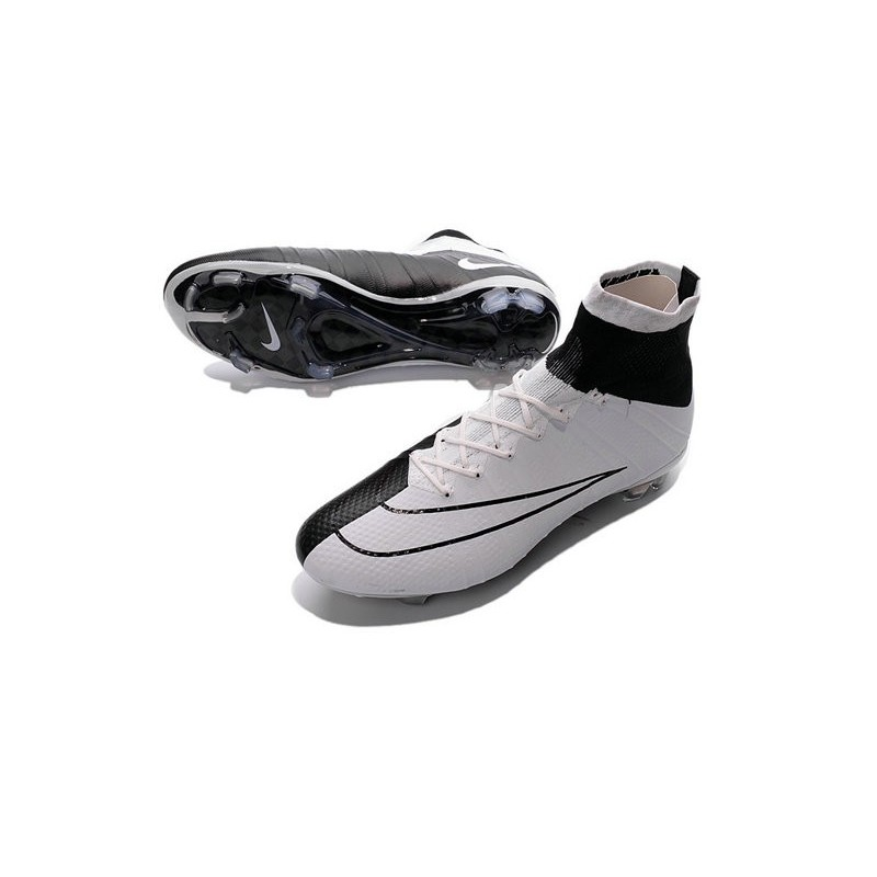 Top New Nike Mercurial Superfly Iv FG Football Cleats White Black
