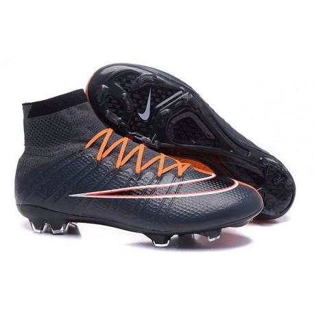Top New Nike Mercurial Superfly Iv FG Football Cleats Black Orange