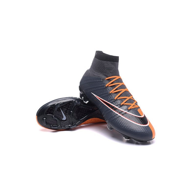 Top New Nike Mercurial Superfly Iv FG Football Cleats Black Orange