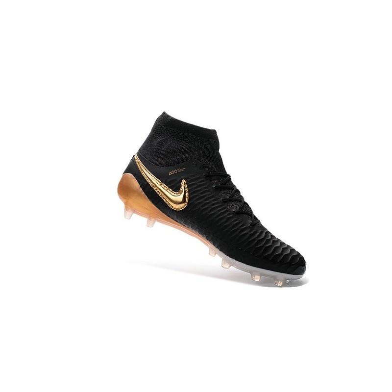 Nike 2016 Magista Obra FG ACC Football Shoes Black Gold