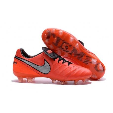 ddfd03e01c97 New 2016 Nike Tiempo Legend 6 FG Kangaroo Leather Boots Orange Black White