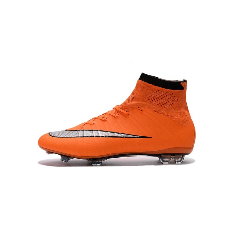 Top New Nike Mercurial Superfly Iv FG Football Cleats Orange Silver