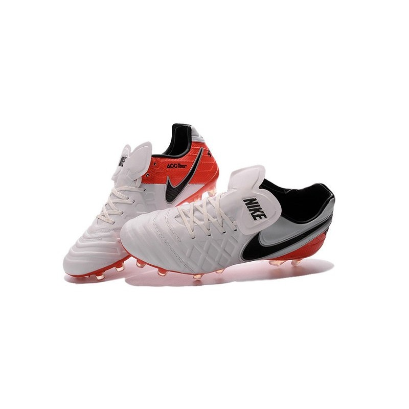New 2016 Nike Tiempo Legend 6 FG Kangaroo Leather Boots White Red Black