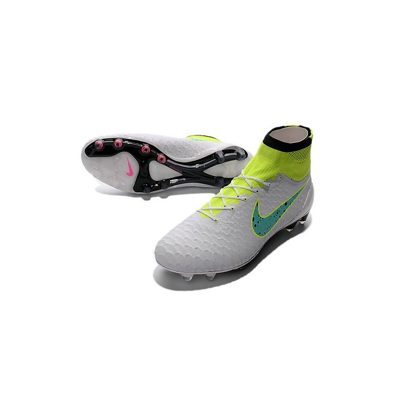 Top Football Boots 2016 Nike Magista Obra FG White Green