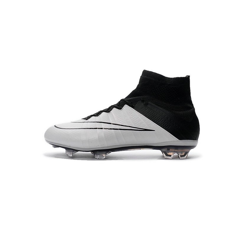 Cristiano Ronaldo Nike Mercurial Superfly 4 FG Shoes Leather White Black