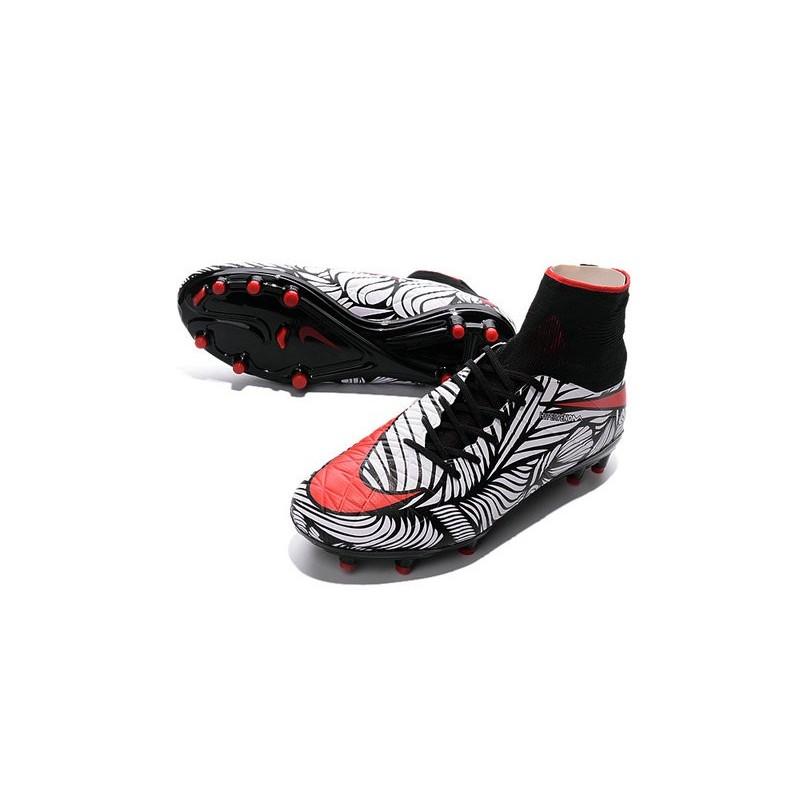 Nike Hypervenom Phantom 2 FG ACC 2016 Soccer Shoes Neymar Black White Red