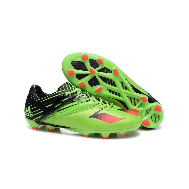 728d25ea2a4 New 2016 adidas LIONEL MESSI 15.1 FG Soccer Shoes Green Black Red Maximize.  Previous. Next