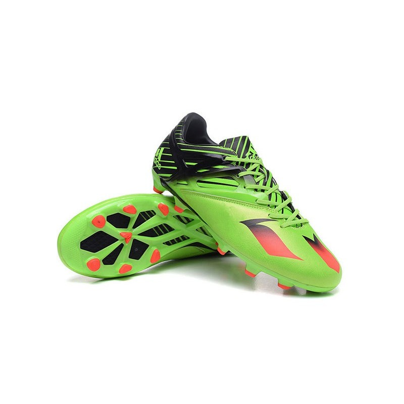 new 2016 adidas lionel messi 15.1 fg soccer shoes green black red - adidas soccers shoes black green