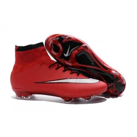 Cristiano Ronaldo Nike Mercurial Superfly 4 FG Shoes Red White Black