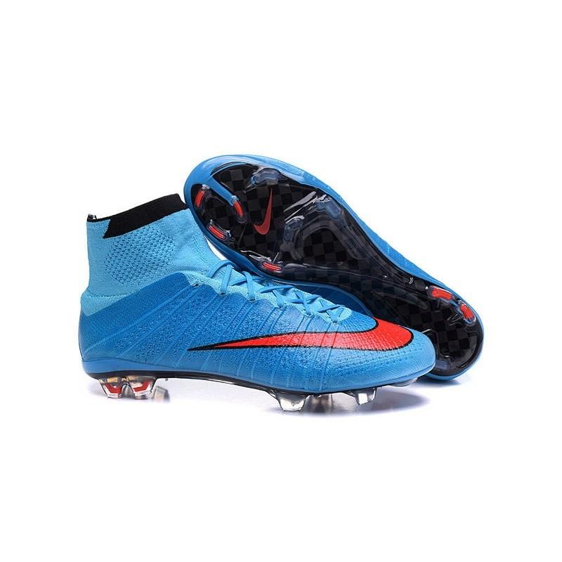 Cristiano Ronaldo Nike Mercurial Superfly 4 FG Shoes Blue Red