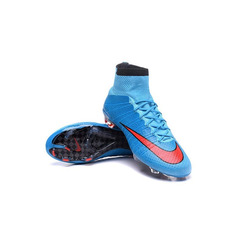 Cristiano Ronaldo Nike Mercurial Superfly 4 Fg Shoes Blue Red
