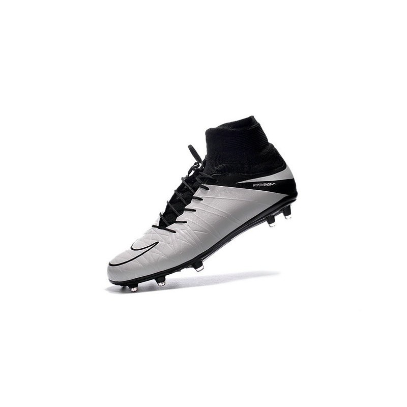 Nike Hypervenom Phantom 2 FG ACC 2016 Soccer Shoes Leather White Black