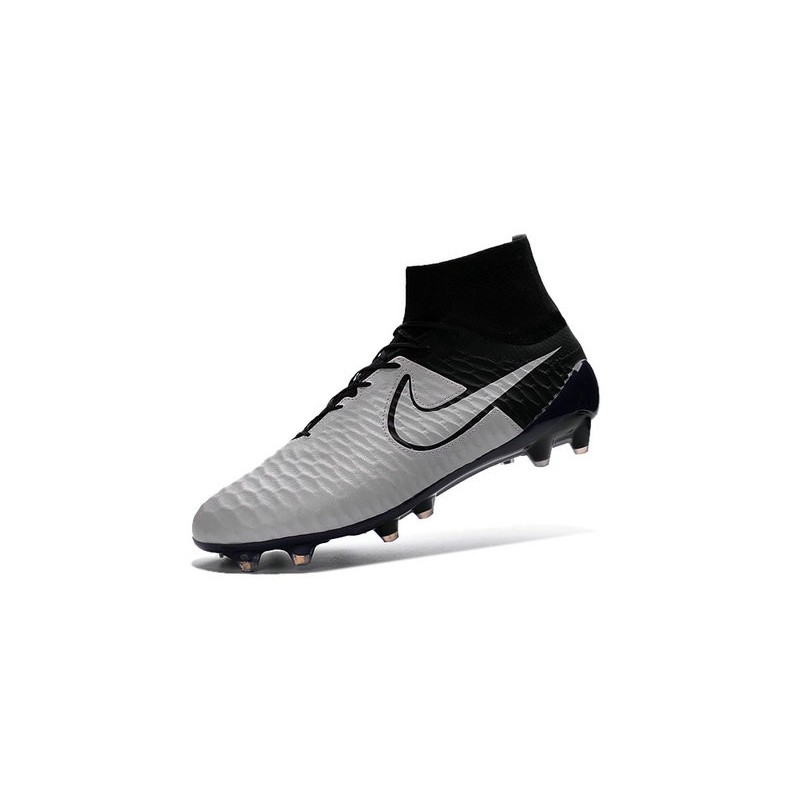 Top Football Boots 2016 Nike Magista Obra FG Leather White Black