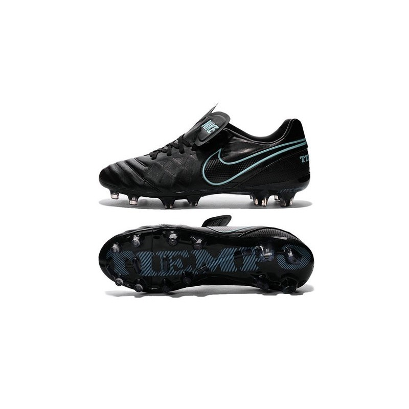Nike Tiempo Legend VI FG ACC K-Leather Football Cleat Black Blue