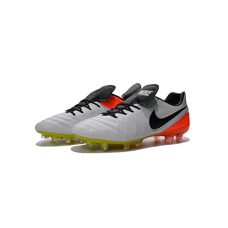 9fc19f6ebee8 Nike Tiempo Legend VI FG ACC K-Leather Football Cleat White Black Orange  Maximize. Previous. Next