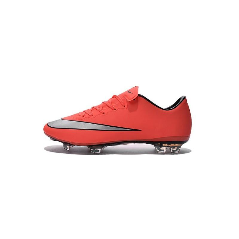 Ronaldo Nike Mercurial Vapor X FG Firm Ground Shoes Mango Silver