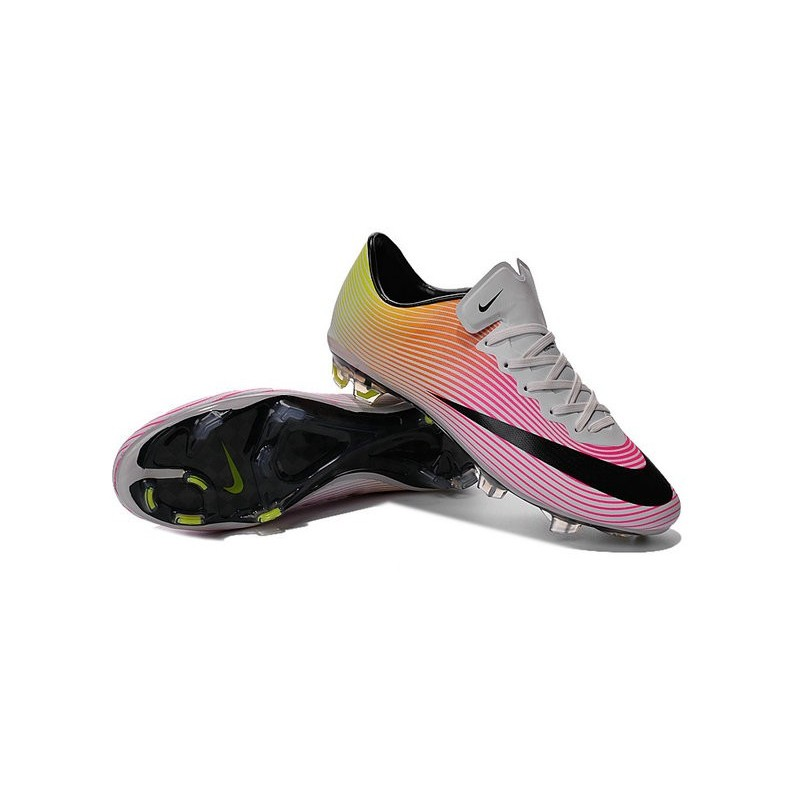 Ronaldo Nike Mercurial Vapor X FG Firm Ground Shoes White Pink Black