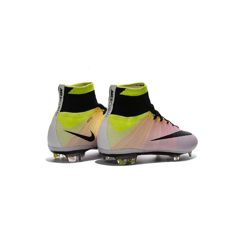 Cristiano Ronaldo Nike Mercurial Superfly 4 FG Shoes White Orange Black