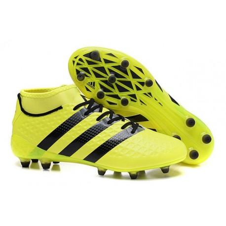 bb7fd65748f7 Men News adidas ACE 16.1 Primeknit FG AG Football Cleats Yellow Black