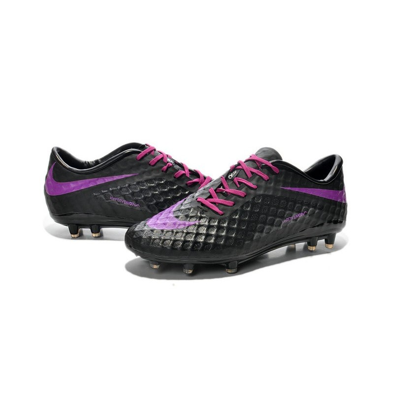 Nike HyperVenom Phantom FG Men's Firm Ground Soccer Boots Black Purple