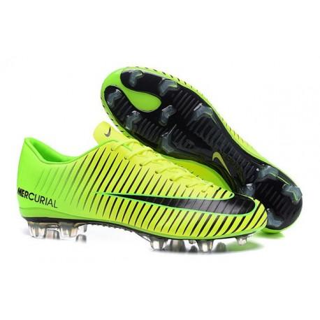 Nike Mercurial Vapor 11 FG ACC Mens Football Shoes Green Black