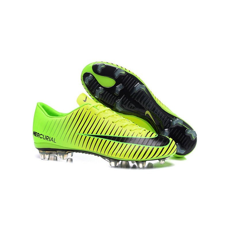 Nike Mercurial Vapor 11 FG ACC Mens Football Shoes Green Black