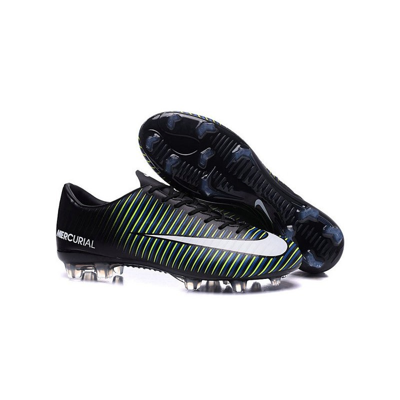 Nike Mercurial Vapor 11 FG ACC Mens Football Shoes Black Blue White
