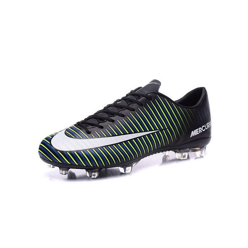 nike mercurial vapor 11 fg acc mens football shoes black blue white. Black Bedroom Furniture Sets. Home Design Ideas