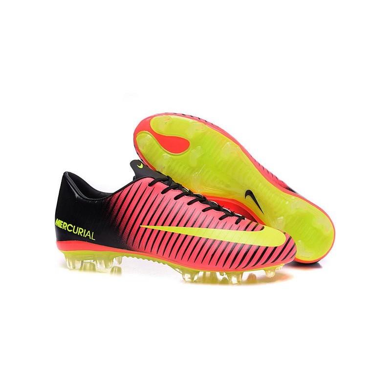 Nike Mercurial Vapor 11 FG ACC Mens Football Shoes Red Yellow Black