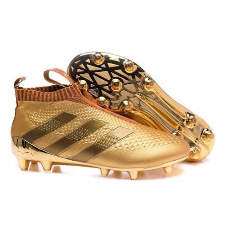 online store bbc4a fd9d9 New 2016 adidas Ace16+ Purecontrol FG Soccer Boots Golden Bl