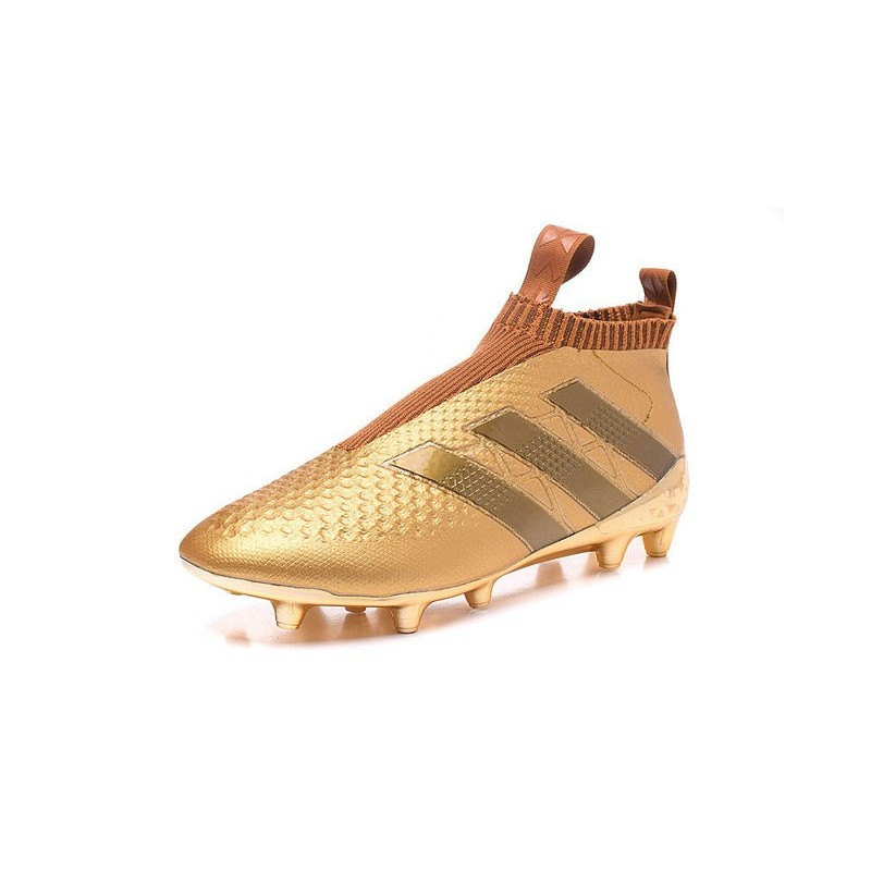 f138f5cce61 New 2016 adidas Ace16+ Purecontrol FG Soccer Boots Golden Black