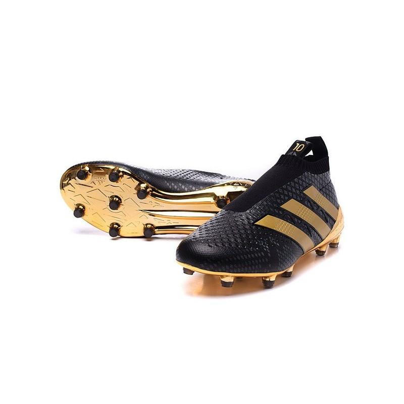 7c0f629099e Paul Pogba New 2016 adidas Ace16+ Purecontrol FG Soccer Boots Black Gold