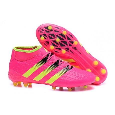 meet 36f17 1192c Men News adidas ACE 16.1 Primeknit FGAG Football Cleats Champions League  Hyper Pink
