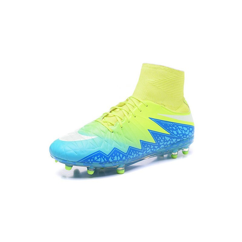 4c9ae5565 Nike Hypervenom Phantom 2 FG ACC 2016 Soccer Shoes Green Blue