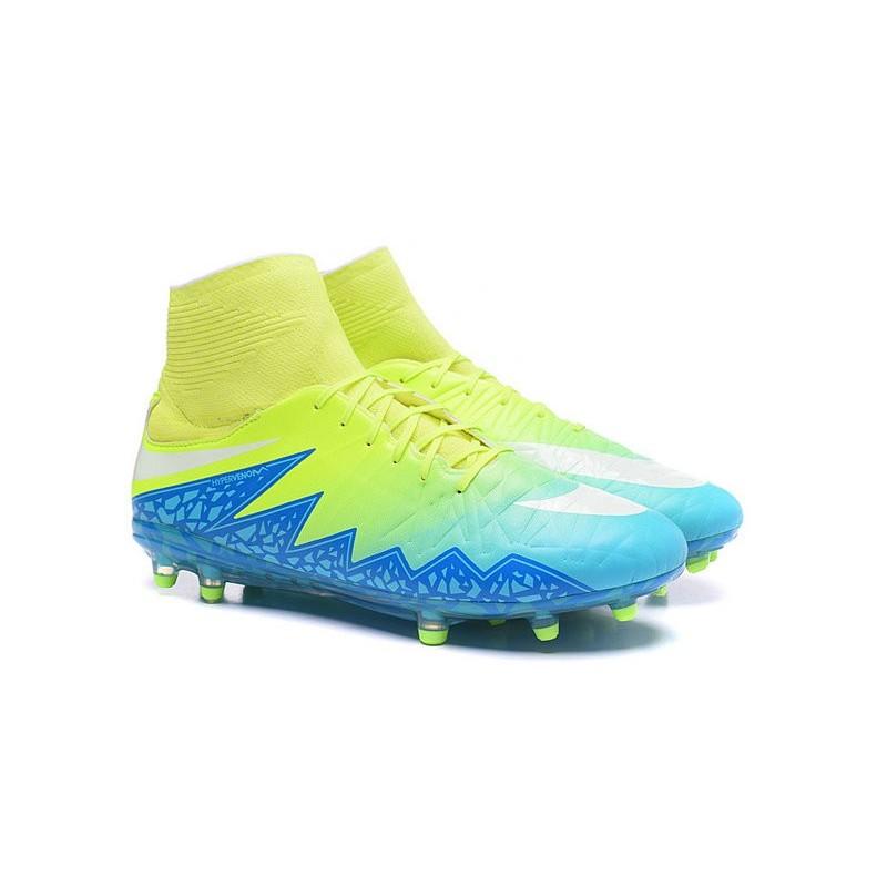 sale retailer c629e ab15e Nike Hypervenom Phantom 2 FG ACC 2016 Soccer Shoes Green Blue