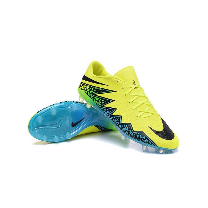 Nike Hypervenom Phinish FG ACC New 2016 Soccer Cleats Volt Black Turquoise