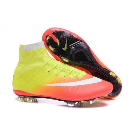 Nike 2016 Mercurial Superfly FG Cristiano Ronaldo Soccer Boot Yellow White  Orange 6f105791d6a1